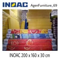 Kasur Busa INOAC UK 200 x 160 x 30 cm ORIGINAL Bonus Bantal & Guling