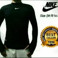 baju pria Nike longsleeve Black - lengan panjang - manset olahraga