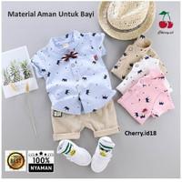 (0-2 Thn) COD Setelan Kemeja Baju Bayi Import Pakaian Baju Laki Laki