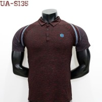 POLO SHIRT UNDERARMOUR RUSH COMPRESSION NEW MODEL 2020 LIMITED EDITION - Merah, M