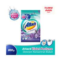 ATTACK Violet Perfume Bubuk 800 g Deterjen Konsentrat Anti Bakteri&Bau