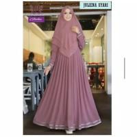 Juliena syari baju gamis pakaian wanita dress fashion muslim - Merah