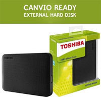 Harddisk external TOSHIBA Canvio Basic 3.0 2TB black ori resmi
