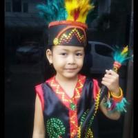 Dayak TK Wanita Lengkap   Baju Adat Kostum Anak Karnaval Parade Pawai