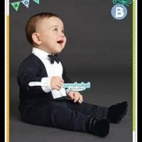 Setelan Jas Hitam Anak Laki Baju Pesta Bayi Import DISKON
