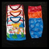 baju setelan singlet anak laki-laki size 6 bulan - 6-12 Bulan, Kuning