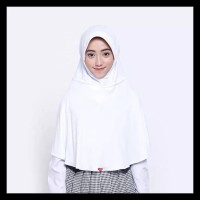 TERPERCAYA Kerudung Jilbab Bergo Sekolah Zoya Sukses MAXI - Putih