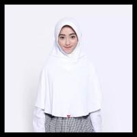 SALE Kerudung Jilbab Bergo Sekolah Zoya Sukses MINI - Putih BOOM SALE