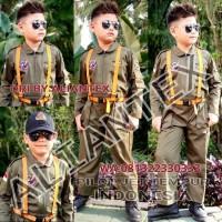 Terlaris Baju Pilot Tempur Anak/ Baju Profesi Anak /Kostum Anak - 3-4