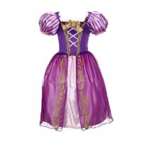 Terlaris Princess Rapunzel Dress Costume | Baju Kostum Putri Anak 4 -