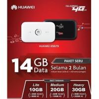 MIFI MODEM WIFI HUAWEI 5573 UNLOCK 4G GRATIS TELKOMSEL 14GB