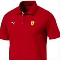 Kaos Kerah Cotton Tshirt Polo Shirt Ferrari