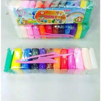 Jumping clay murah / air dry playdough mainan sensorik anak slime clay