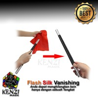Alat Sulap Tongkat - Flash Vanishing Silk Wand - Sulap Kain Menghilang