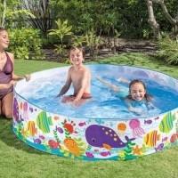 INTEX Kolam Besar Tanpa Pompa - Bak Renang Mandi Anak Berenang Karet
