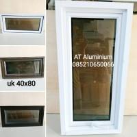 jendela aluminium 40x80 murah harga grosir