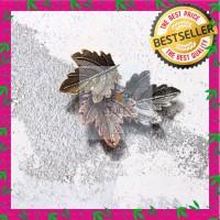 Pin Bross Baju Motif Daun 3 pcs Premium Quality Best Seller!