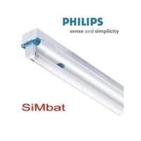 Kap Lampu TL 2 x 36 W Simbat TMS 012 - PHILIPS