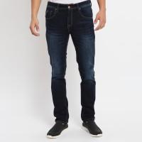 Papperdine 711 D.Indigo Slim Fit Celana Panjang Jeans Pria Selvedge - 27