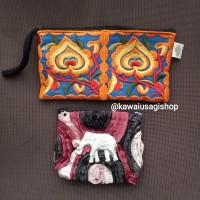Dompet pouch koin wristlet bordir etnik bangkok Thailand