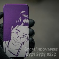 backdoor v3 almunium anodize purple and laser custom design girls