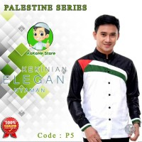 PART 2 Baju Koko Motif Palestine Series Bahan Katun Ima Berkualitas