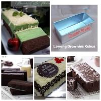 Loyang Brownies Kukus 22x10x7