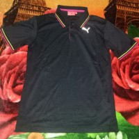 kaos kerah PS polo shirt puma ori golf sport olahraga original hitam