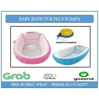 BABY BATH TUB FREE POMPA / BAK MANDI BAYI BONUS POMPA - Biru Muda