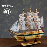 Skywarp Mainan Rakit Kapal Layar Klasik Bahan Kayu untuk Dekorasi