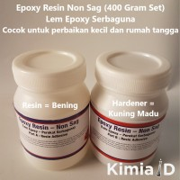 Epoxy Resin Non Sag - 400 Gr - Lem Epoxy Non Sag - Lem Besi