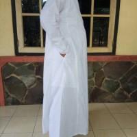 Gamis pria jubah putih laki-laki dewasa baju ihram haji umroh