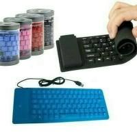 KEYBOARD FLEXIBLE KARET USB BISA DIGULUNG
