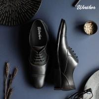 Winshor Oxby Black - Sepatu Kantor Pantofel Pria Premium - Black