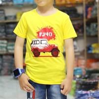 Baju Kaos Anak Laki Laki Cowok Gambar Mobil Jeep keren Terbaik murah