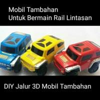 Mobil Tambahan SUPER TRACK Mainan DIY Jalur 3D Mobil Balap Tambahan