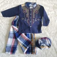 Sarkoci Sarung Celana Koko Peci Baju Lebaran Anak Bayi Laki Laki
