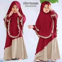 Gamis Anak Syari muslim/Baju Muslim anak Perempuan-kids farasya