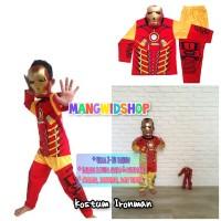 Baju Anak / Stelan / Kostum Iron Man ironman 1 - 10 tahun