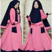 Baju Gamis Anak Perempuan Muslim Syar'i Lebaran Umur 8-11 Tahun RUMANA