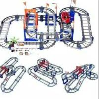 SUPER TRACK ISI 73 PCS Mainan DIY Jalur 3D Mobil Balap Rail Lintasan - set abu abu