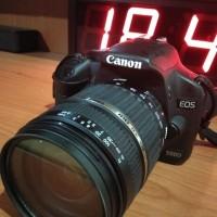 canon 500D +lensa 18-200 tamron