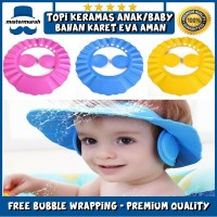 BABY SHOWER CAP HAT TOPI KERAMAS ANAK BAYI MANDI PENUTUP PELINDUNG AIR