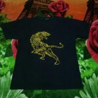 kaos baju tee shirts big tiger macan hitam original branded gaul murah