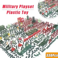 330 Pcs Plastic Toy Soldiers Kit Action Figures Army Men Model Boy