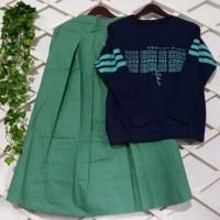 Set rok cantik/gamis casual/baju santai/gamus terlariss