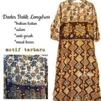 Longdress Daster Batik Pekalongan Lengan Panjang Jumbo / Baju Tidur