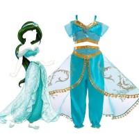 Kostum Princess Jasmine Disney Alladin Baju Pesta Dress Kado Anak