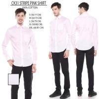 Kemeja Pria Calvin Klein 31 Stripe Pink Shirt