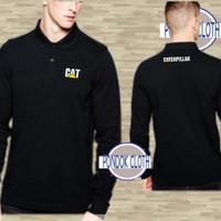 Polo shirt Katun Kaos Kerah Lengan Panjang All Design Caterpillar